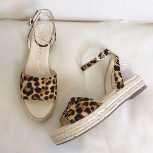 Sole Society   Leopard Verla Espadrille Sandal 11